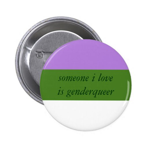Genderqueer Ally Button