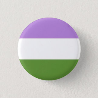 genderqueer flag 1 inch round button