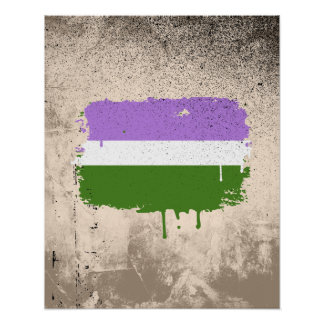 GENDERQUEER FLAG DRIPPING POSTERS