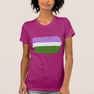 GENDERQUEER FLAG DRIPPING TEE SHIRTS