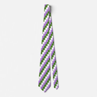Genderqueer flag tie - checkered