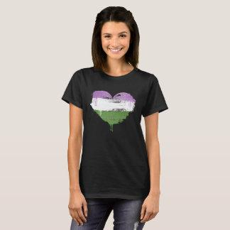 GENDERQUEER HEART - GENDERQUEER LOVE - T-Shirt