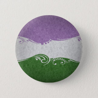 Genderqueer Ornamental Flag 2 Inch Round Button