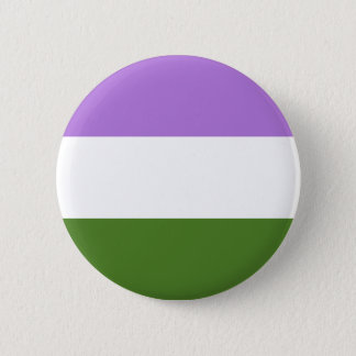 Genderqueer pride flag 2 inch round button