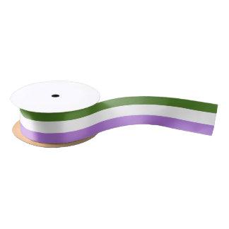 Genderqueer pride flag ribbon satin ribbon
