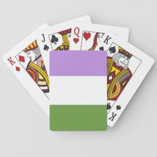 genderqueer pride playing cards