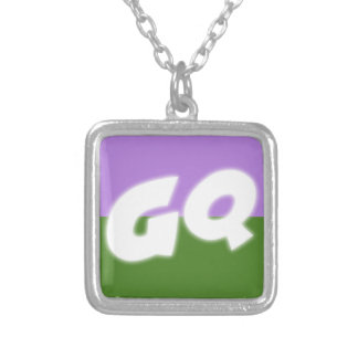 Genderqueer Pride Silver Plated Necklace