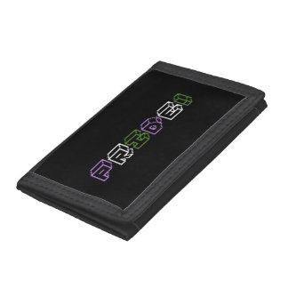 Genderqueer pride text sign trifold wallets