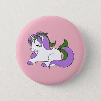 Genderqueer unicorn 2 inch round button