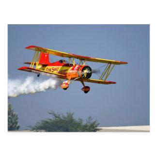 Gene Soucy performing aerobatics in Grumman Postcard