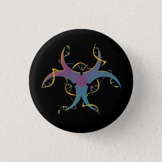 Gene Splicing Bio Hazard Symbol 1 Inch Round Button