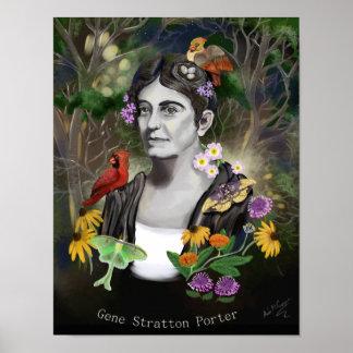 Gene Stratton Porter Portrait Digital Painting Poster