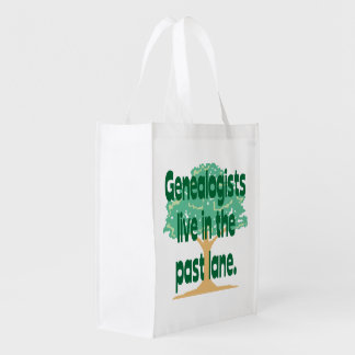 Genealogists Live In The Past Lane Grocery Bag