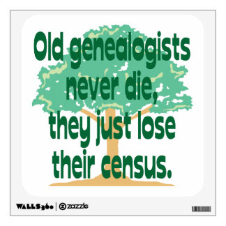 Genealogists Lose Their Census Wall Decal