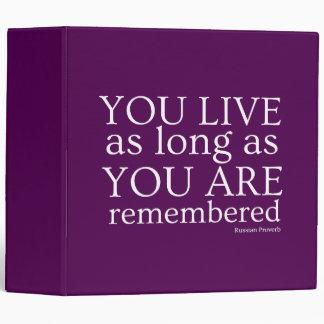 Genealogy Binder (Purple)