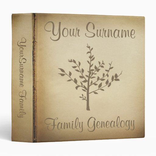 Genealogy binders