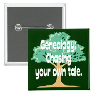 Genealogy: Chasing Your Own Tale 2 Inch Square Button