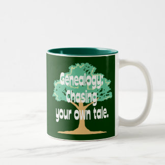 Genealogy: Chasing Your Own Tale Two-Tone Coffee Mug