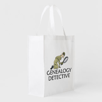 Genealogy Detective Reusable Grocery Bag