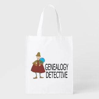 Genealogy Detective Reusable Grocery Bags