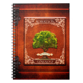 Genealogy Family Tree Antique Look Notebook