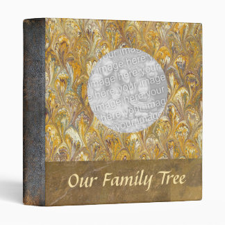 Genealogy | Family Tree Leather Look Photo Book 3 Ring Binder
