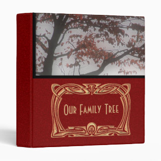 Genealogy | Family Tree Red Glitter Look Photo Vinyl Binder
