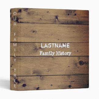 Genealogy Family Tree | Rustic Wood Family Reunion Vinyl Binders