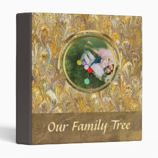 Genealogy Gold Paisley | Family Tree Leather Look Binders