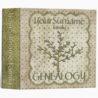 Genealogy Green 3 Ring Binders