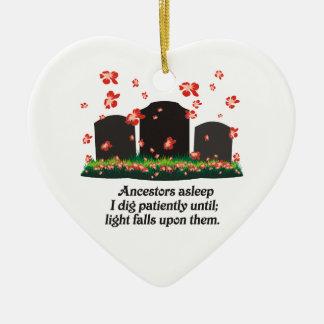 Genealogy Haiku Ceramic Ornament