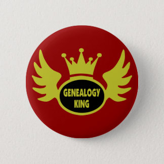 Genealogy King 2 Inch Round Button