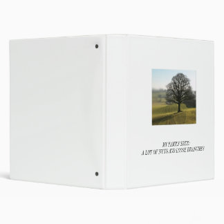 Genealogy :  Nuts and Loose Branches Vinyl Binder