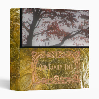 Genealogy Our Family Tree Gold Foil Look Photo Binders