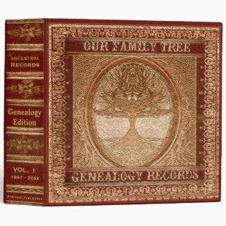 Genealogy Records Book Vinyl Binders