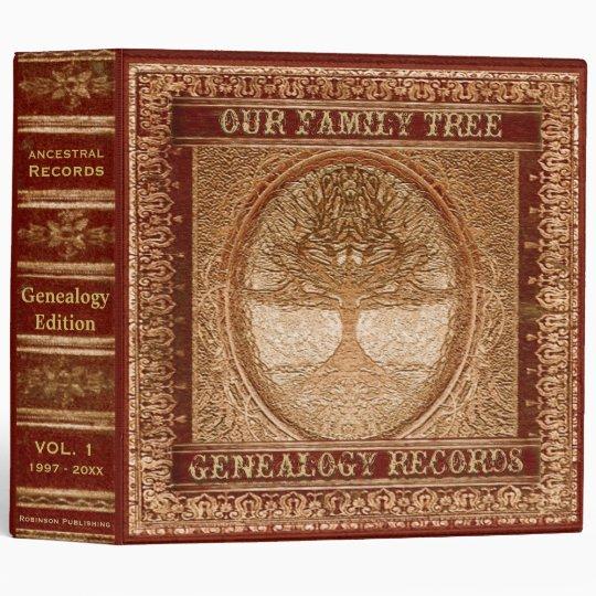 Genealogy Records Book Vinyl Binders