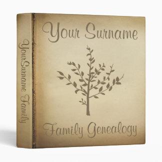 Genealogy Vinyl Binder