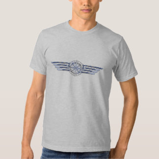 General Air Pilot Chrome Like Wings Compass T Shirts