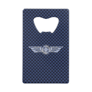 General Air Pilot Chrome Like Wings Compass Wallet Bottle Opener