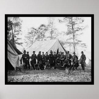 General Ambrose Burnside and Staff 1862 Poster