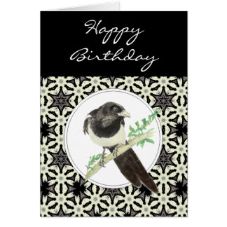 General Birthday Magpie Bird, Nature Card