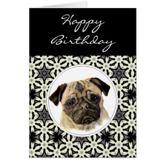 General Birthday Pug, Pet Dog Card