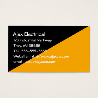 General Business Card Black and Gold