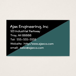General Business Card in Black and Slate Green