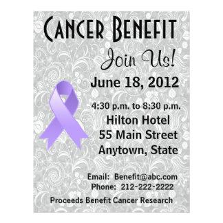 General Cancer Awareness Benefit Gray Floral Flyer