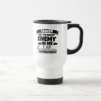 General Cancer Met Its Worst Enemy in Me Travel Mug