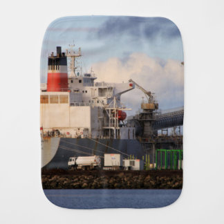 General cargo ship baby burp cloths