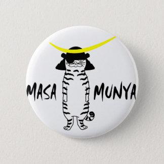 General cat masamuniya can batsuji 2 inch round button