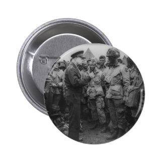 General Dwight D Eisenhower with Paratroopers Button