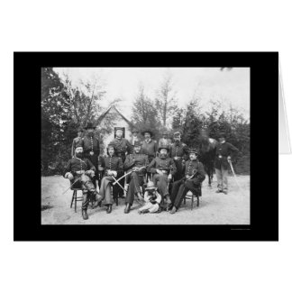 General Gamble and Staff at Camp Stoneman 1865 Greeting Card